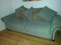 Large 4 seater sofa and arm chair