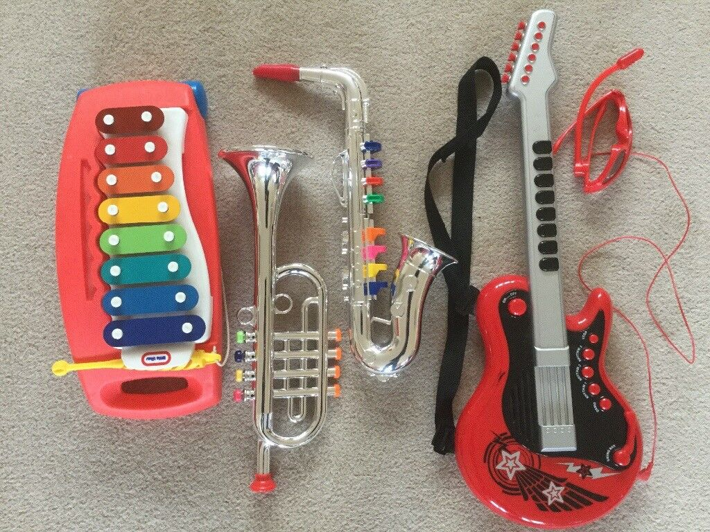Kids Play Musical Instruments including ELC guitar