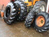tractor digger wheels