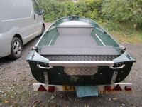 14 Ft Aluminium Fishing Boat, trailer & Outboard