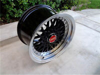 "16"" inch x 9j 5x100 BBS RS style brand new Alloy wheels Audi A1 A2 A3 S1 S2 S3 TT alloys wheel"