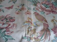 Vintage Curtain Material - 8 meters - Bird / Butterfly / Floral Pattern