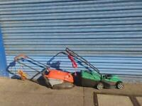 2 electric lawnmowers £49 a piece perfct working order