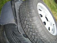 brand new 165 x 70 x 13 uniroyal rain tyre , brand new on brand new 4 stud 4 x 100 skoda/v w steel