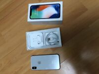 iPhone X 64GB Silver excellent condition