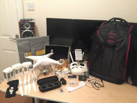 DJI Phantom 4 Standard + 3 Batteries + Tons of Accessories
