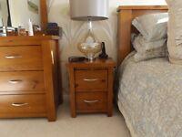 Pair of Sterling Bee Oak Bedside Cabinets