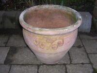 An attractive terracotta planter.