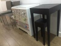 Lovely Dining Chairs, Chest Drawers, Side Tables, CALL 07757671484