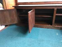 Solid Oak low sideboard