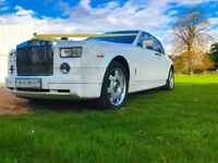 WEDDING CAR HIRE / ROLLS ROYCE PHANTOM / BENTLEY / CLASSIC CAR / GTR / MERCEDES / BMW / LIMOUSINE