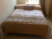 Double bed mattress and wooden bed frame for sale.. Both in great condition.. collection only