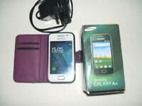 WHITE SAMSUNG GALAXY ACE MOBILE PHONE