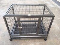 Medium Large Pet Dog Cat Cage Crate Enclosure With Wheels