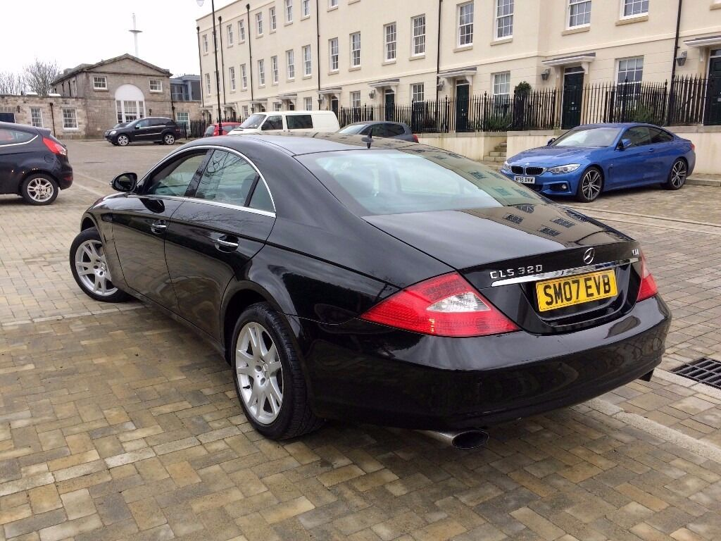 2007 mercedes cls 320 cdi auto black 7 speed f s h top condition in plymouth devon. Black Bedroom Furniture Sets. Home Design Ideas