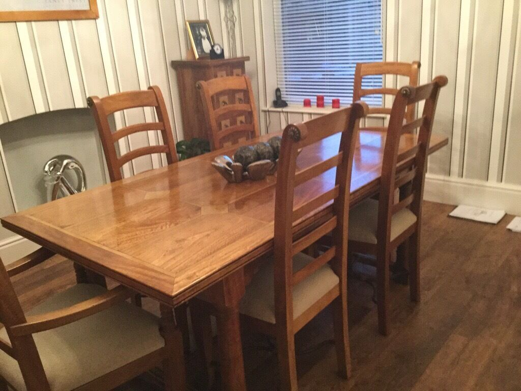 Barker Stonehouse Flagstone Dining Table With Six Chairs