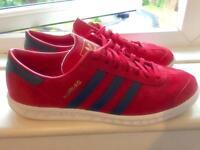 Adidas Hamburg, Red mums size 10. Hardly used