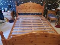 King size Double Bed Frame Pine