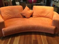 As New - Suede Sofa and Chair