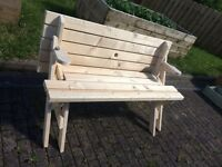 Hand Made Picnic Table Seat