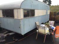 Sprite blue bird vintage caravan 1963
