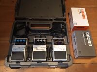 Boss BCB-3 Pedal Board With TU-2, NS-2 & DD-3 Pedals With PSU Adapted And Chainlink