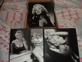3 Marilyn Monroe pictures brand new still in box