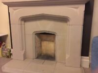 Fireplace surround, stone construction. Good condition, comes in 17 sections.