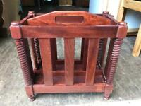 Solid wood magazine rack FREE DELIVERY PLYMOUTH AREA