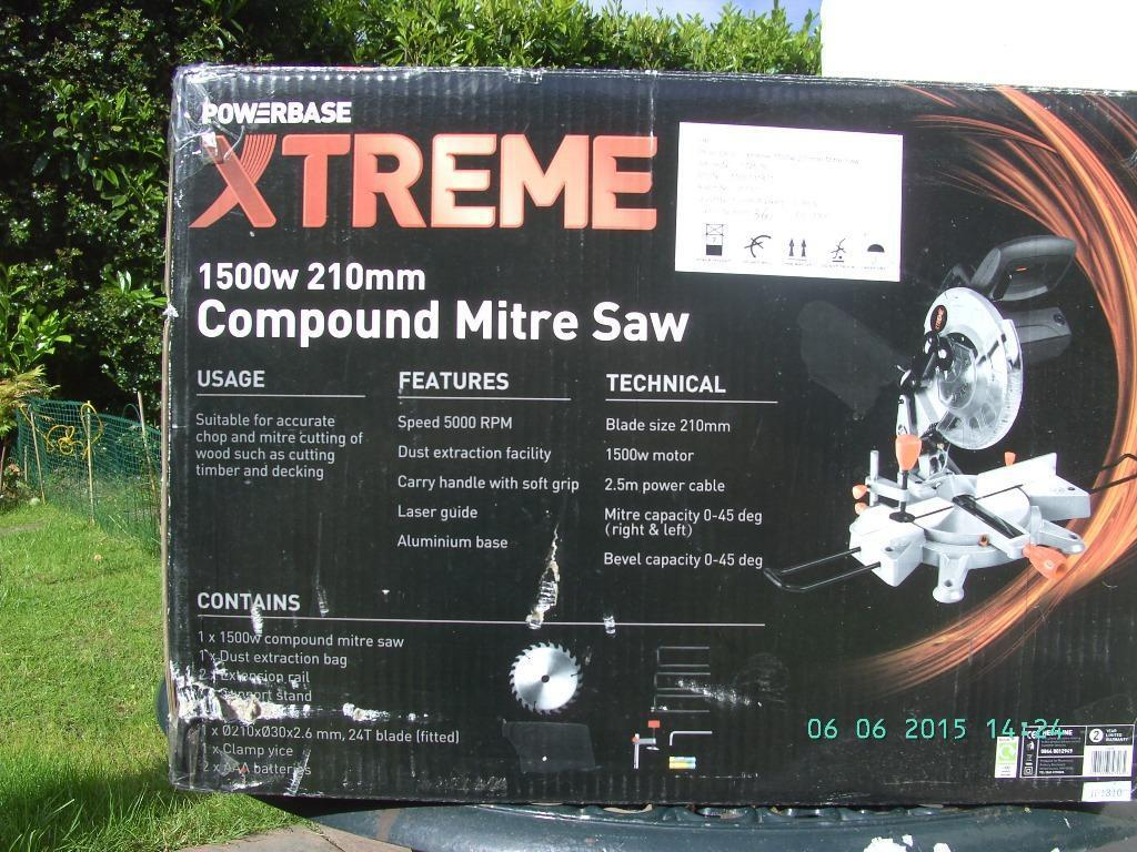 xtreme 8 compound mitre saw buy sale and trade ads. Black Bedroom Furniture Sets. Home Design Ideas