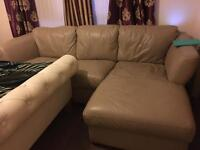 DFS grey leather corner suite excellent condition been in the bed room since new