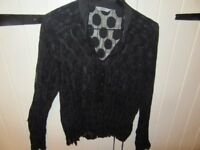 M&S MARKS & SPENCER BLOUSE CLASSIC BLACK CRINKLE FLIMSY SIZE 18 WORN ONCE