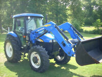 NEW HOLLAND TD80D CAB+LOADER+4X4 WITH 843HOURS