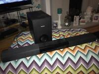Phillips sound bar and sub