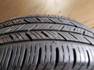 4 pneus d'été 215/55/17 Continental Contipro Contact, 25% d'usure, 8/32 de mesure.