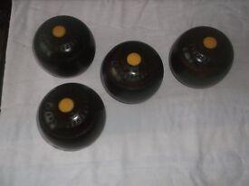 Antique Wooden Crown Green Bowls
