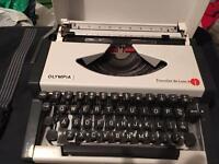 Olympia Travel DeLuxe Portable Typewriter