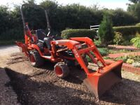 Mini digger Tractor Kubota BX23 only 587 hours, includes IW trailer, ditching bucket tow ball hitch