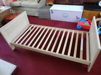 mothercare cot bed as new used free times no longer needed