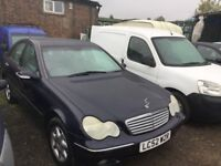 52 REG MERCEDES C CLASS AUTOMATIC TIPTRONIC FULL SERVCE HISTORY LOW MILEAGE LEATHER DRIVES LIKE NEW
