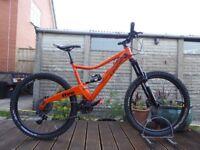 "2015 Orange Five 5 Mountain Bike 27.5"" - 19"" Large Frame - Pike RCT3 - 11 Speed - Full Suspension"