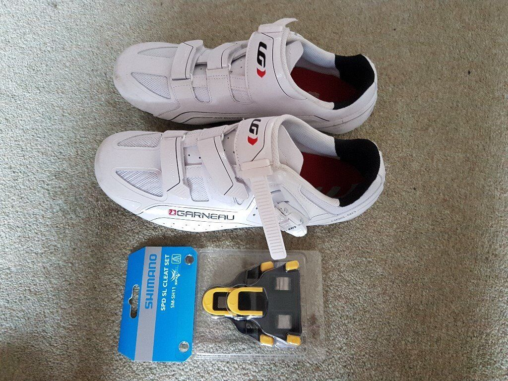 977fe0b4f Garneau Cycle or bicycle shoes - Size 9 (43) with SPD SL Shimano Cleats -  £35.00