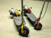 2 petrol scooters 1 working 1 for spares