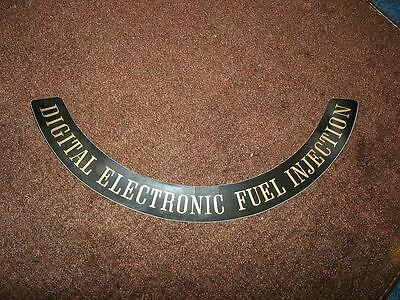 1980 CADILLAC ELDORADO DIGITAL FUEL INJECTION AIR CLEANER TOP LID DECAL STICKER (Digital Fuel Injection)