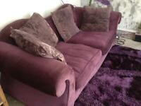 Lovely purple sofa
