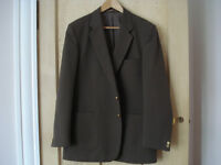 Gents Marks and Spencer brown blazer with gold buttons, size 42 regular, in excellent condition