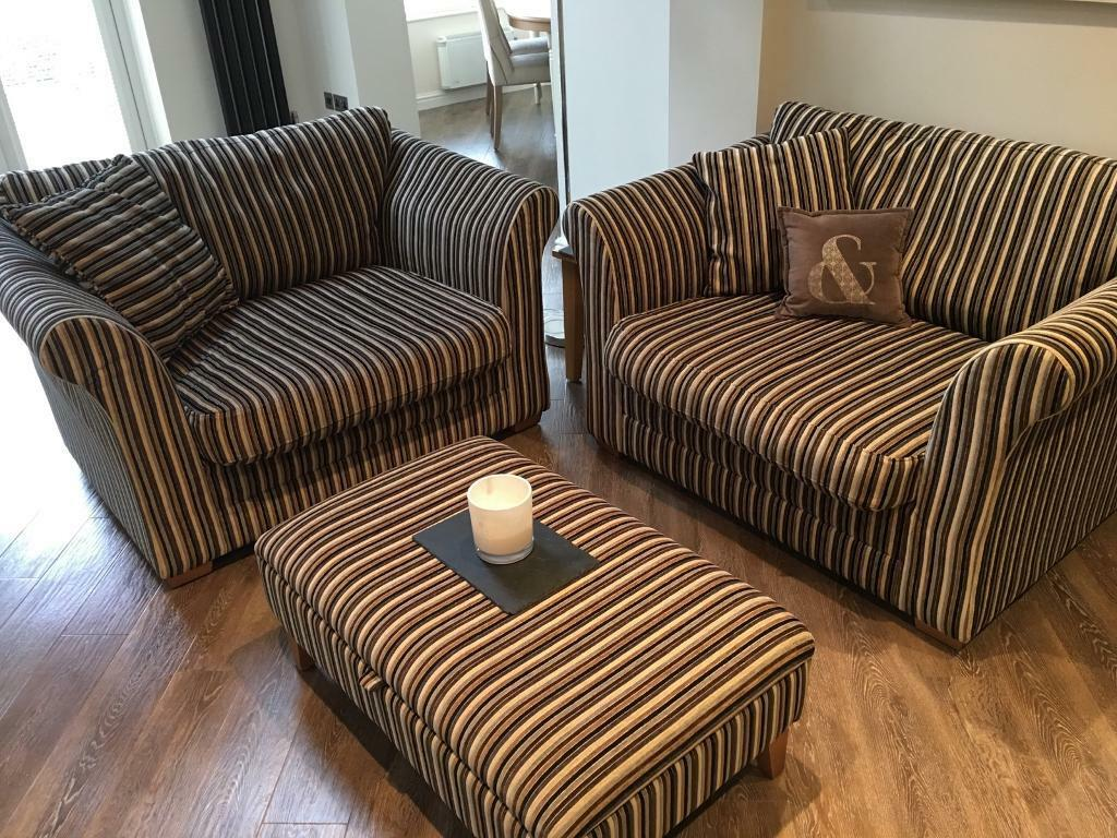 Chairs with matching storage pouffe