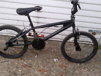 BMX REAPER ALL BLACK 20 inch WHEELS NEW BRAKE CABLES £110 ovno