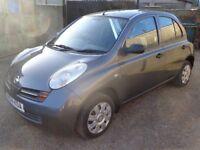 2004 Nissan Micra S 1.2 Petrol Grey 5 Door FSH Low Miles Long MOT Warranty Available