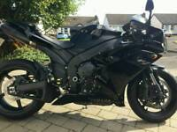Black 2007 Yamaha R1 in mint condition